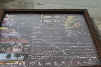 Mapa del Castillo e Isla de Santa Cruz de Oleiros